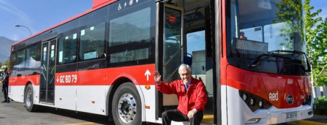 Chile reaches one thousand electric buses by public transport