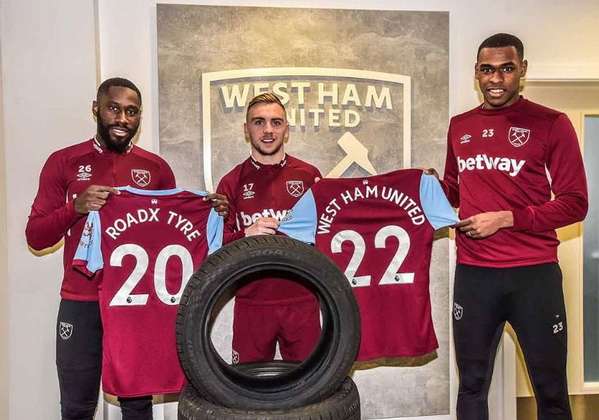 West Ham's Arthur Masuaku, Jarrod Bowen and Issa Diop