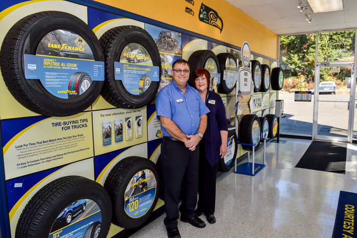 Scott and Susan Welsh have been running Courtesy Auto for the past 12 years. (Josh Fernandez Photography)