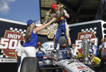 Indianapolis 500 Winner Takuma Sato Awarded Borg-Warner Trophy